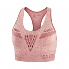 Bustiera Alergare Femei Salomon ELEVATE MOVE'ON BRA W Coral